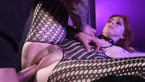 Very sexy and busty Penny Pax wearing fishnets BDSM