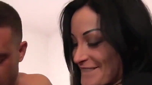 Mila Ramos rough bends to get fucked