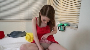 Hard pounding alongside stunning teen Alice Merchesi