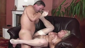 Hairy hungarian Granny Norma creampied