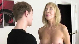 Sex scene together with young wife Erica Lauren
