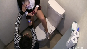 Chubby japanese teen chick rough good fuck in restroom