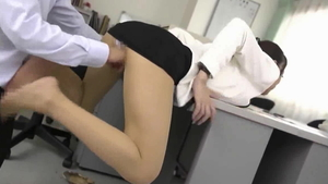 CFNM sucking cock along with girl