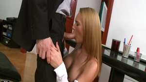 Large boobs Krissy Lynn anal sex in office