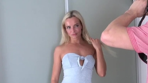 Czech blonde hair Victoria Pure really likes good fuck