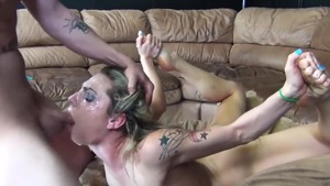 Handjob starring very hot european pornstar