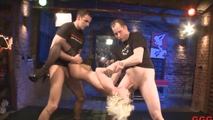 Shared escorted by young dirty german blonde babe
