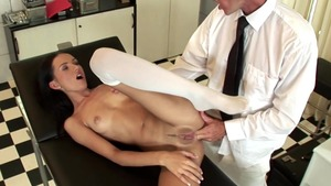 Doctor Sasha Rose goes in for cumshot