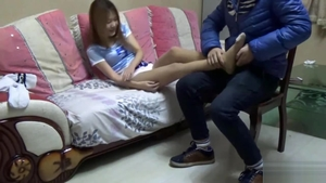 BDSM chinese girl wearing socks