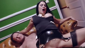 Pornstar Jasmine Jae in a dress group sex at the party