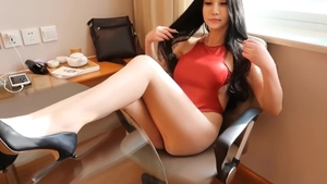 Chinese in tight stockings in HD
