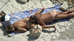 Big ass mature nudist pussy fucking at the beach