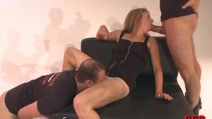 Very hot german extreme gangbang