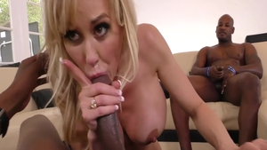 Good fucking with Brandi Love next to Audrey Bitoni