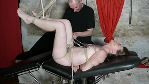 Bondage along with french housewife