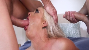 Busty Holly Heart wife getting a facial video