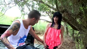Arab stepmom anal fucking outdoors in HD