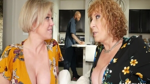Hottest redhead Dee Williams and Sara Jay interracial pounding