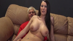 Hard pounding in company with large boobs amateur Alexis Grace