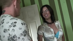 Blowjob along with shaved caucasian couple Brandi Edwards