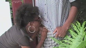 Natural ebony amateur helps with pussy sex in boots in HD