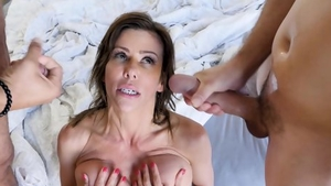 Nailing in the company of huge tits pornstar