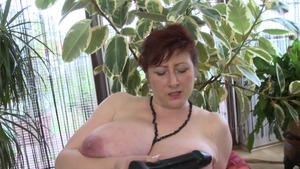 Busty housewife rammed hard solo
