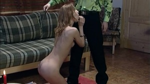 Skinny girl domination torture blowjobs in HD