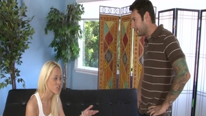 Young babe Rebecca Blue has a soft spot for hard pounding