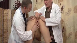 Hard ramming in the company of shaved doctor