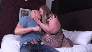 Big ass and SSBBW pawg in stockings rides a hard dick