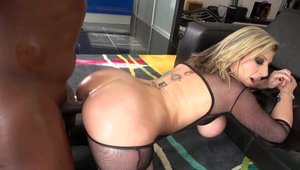Busty Lexington Steel as well as Black Guy orgasm