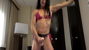 Nailed rough together with muscle babe
