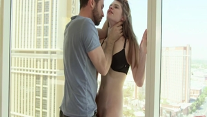 Raw sex along with big ass teen chick Alice March