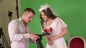 Real sex along with bride Evelina Darling
