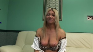 Solo shaved blonde babe sex with toys