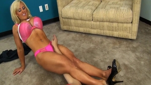 Megan Avalon bikini and Violet Monroe catfight