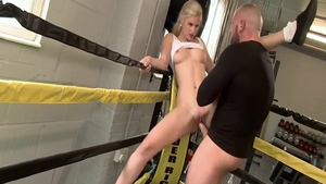 Tight blonde hair Mira Sunset homemade facial