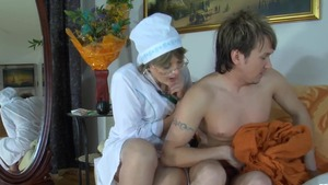 Huge tits & aged doctor in glasses reality cum in mouth