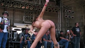 Gorgeous chick contest in public