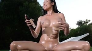 Asian feels up to oil good fucking