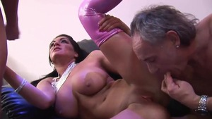 Pussy fucking accompanied by aged twins