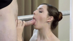 Very nice brunette cumshot