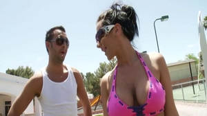 Jayden Jaymes & Keiran Lee softcore squirt outdoors