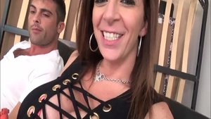 Hardcore gangbang next to super hot MILF Sara Jay