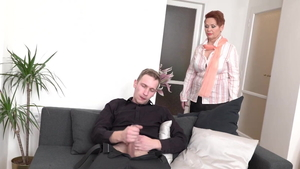 Young granny sucking dick in HD