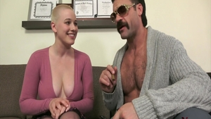 Bald & busty Riley Nixon fucked in the ass