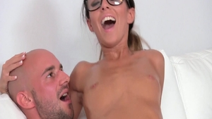 Shaved czech Gina Devine feels in need of hard slamming