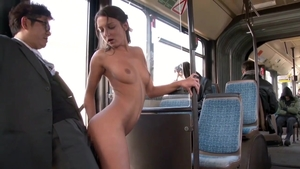 Very small tits and yummy Foxy Di creampied in the bus