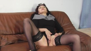 Russian in stockings getting a facial